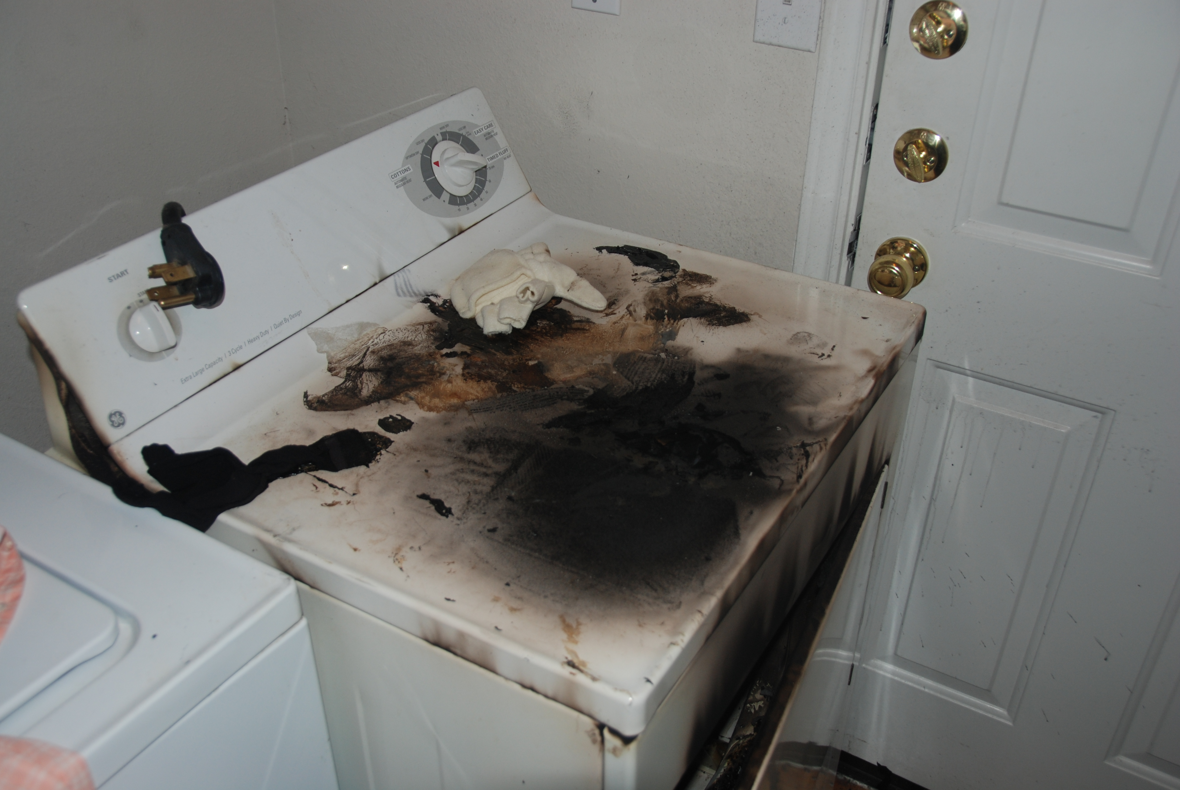 Photo of dryer fire