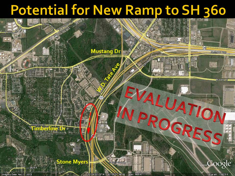 New southbound SH 360 on-ramp